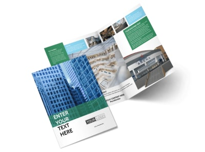 Commercial Real Estate Brochure Template   MyCreativeShop Commercial Real Estate Bi Fold Brochure Template 2