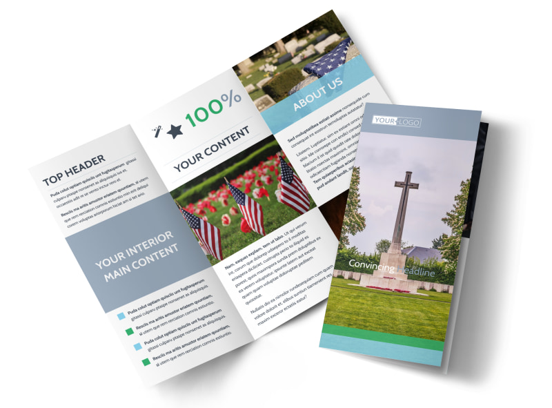 Memorial   Funeral Services Brochure Template   MyCreativeShop Memorial   Funeral Program Services Brochure Template
