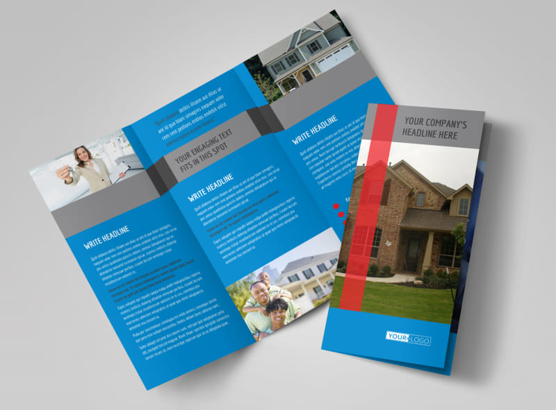 Residential Real Estate Brochure Template   MyCreativeShop Residential Real Estate Brochure Template