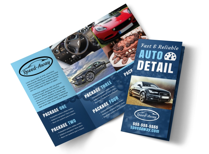 Auto Detailing Brochure Template   MyCreativeShop Auto Detailing Tri Fold Brochure Template