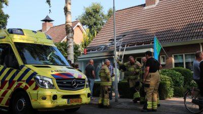 Loodgieter gewond bij dakbrand in Lunteren - Ede