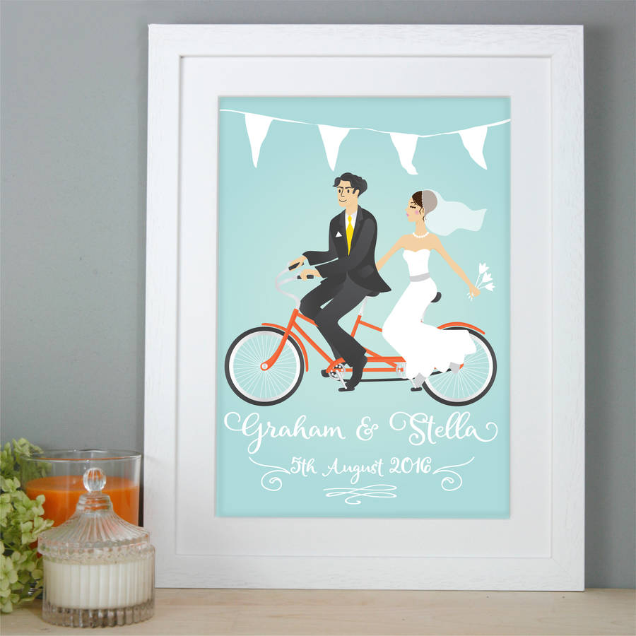 personalised wedding gifts for bride and groom wedding gift for bride Personalised Wedding Gift Bride And Groom Print