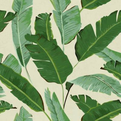 banana leaves wallpaper by lime lace | notonthehighstreet.com