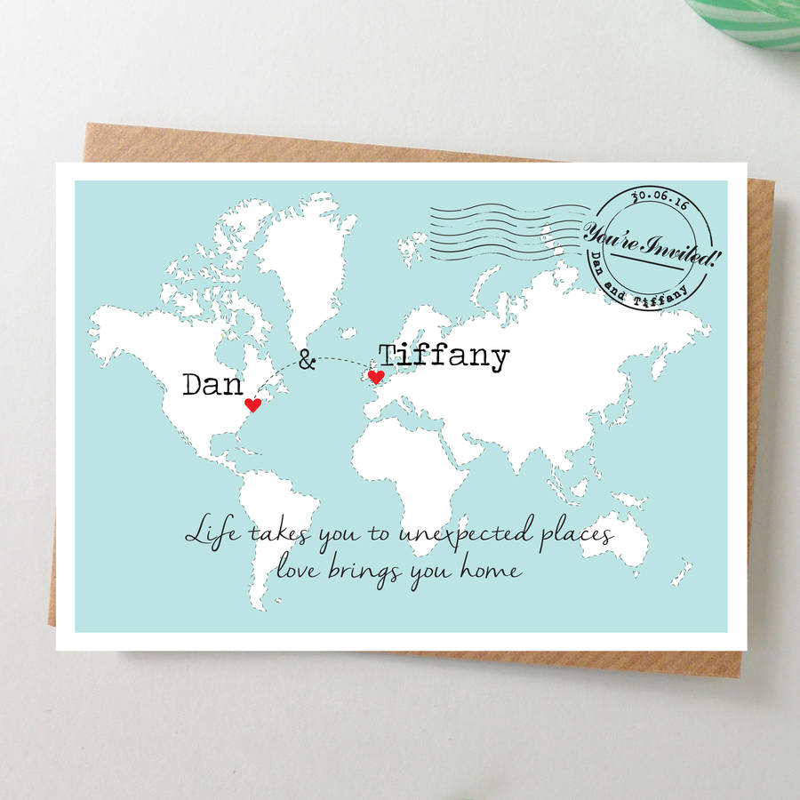 maps for wedding invitations map wedding invitations Maps For Wedding Invitations Diy Kits At Last