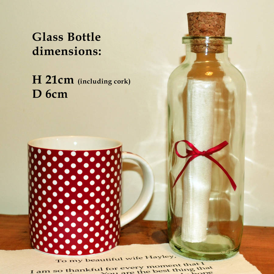 best friend 1st wedding anniversary gift first wedding anniversary gift Dimensions and size spotty mug not included just to show sense of scale