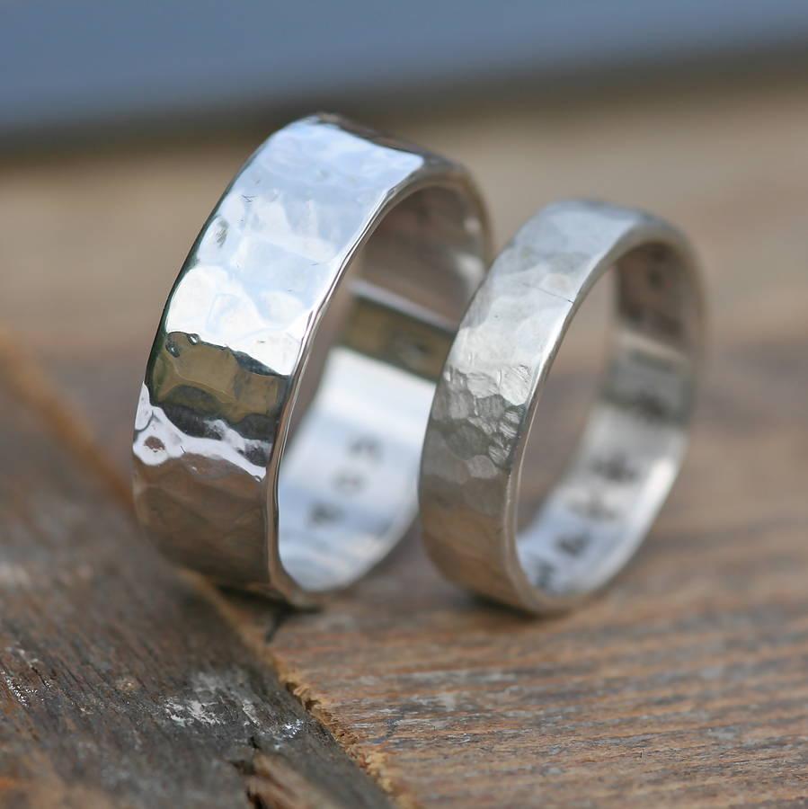 hammered wedding rings hammered wedding band Hammered wedding rings Cool Wedding Ring Hammered