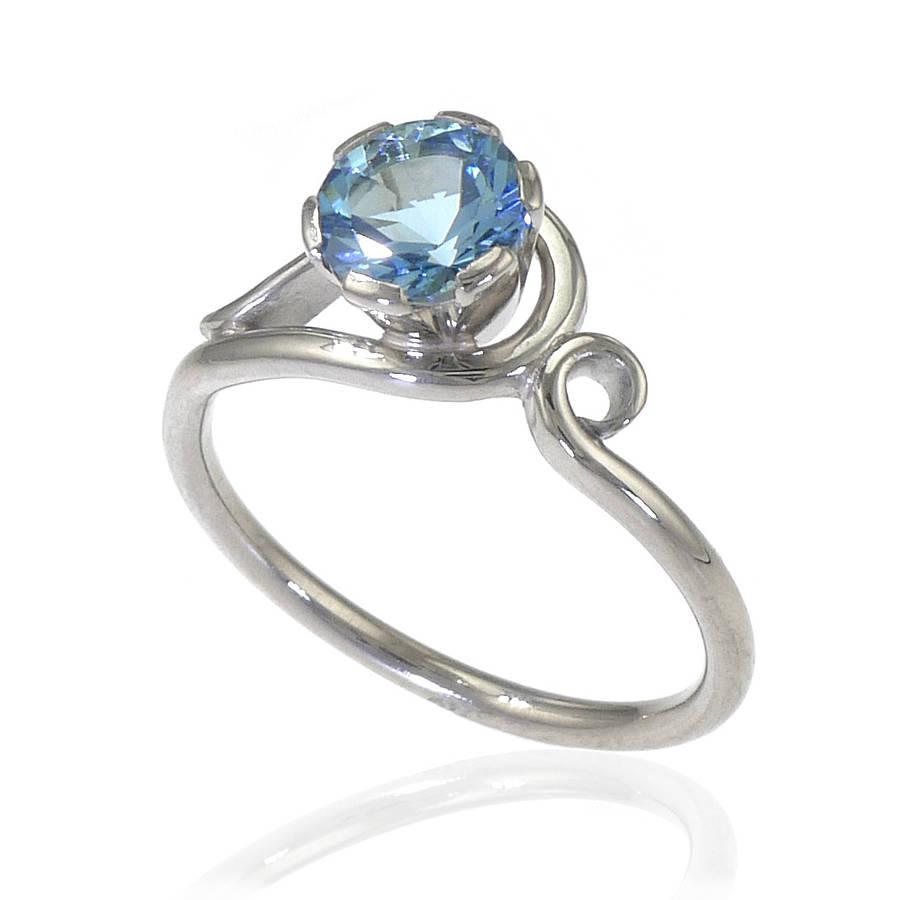 aquamarine engagement ring in 18ct gold aquamarine wedding rings Aquamarine Ring In 18ct Gold