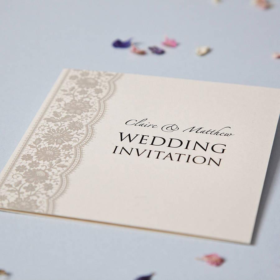 personalised lace wedding invitation set wedding invitation set Personalised Lace Wedding Invitation Set