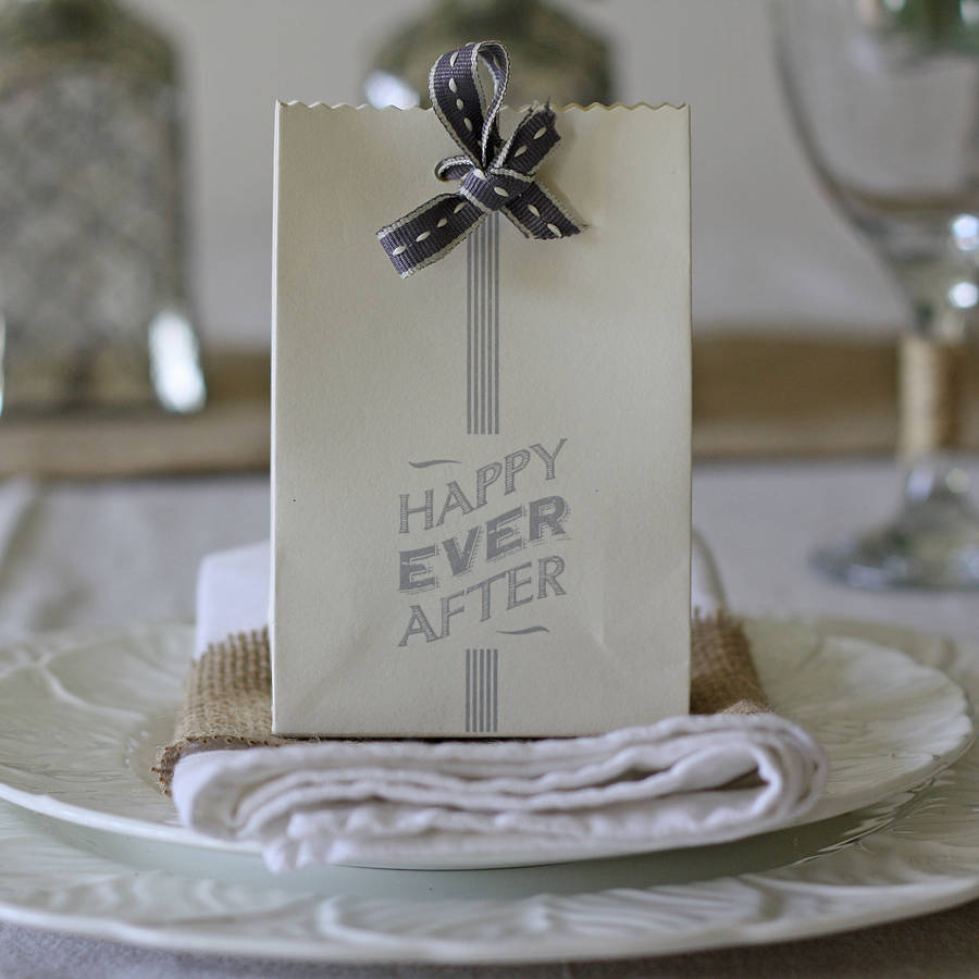 six happy ever after wedding favour bags wedding favor bags Six Happy Ever After Wedding Favour Bags