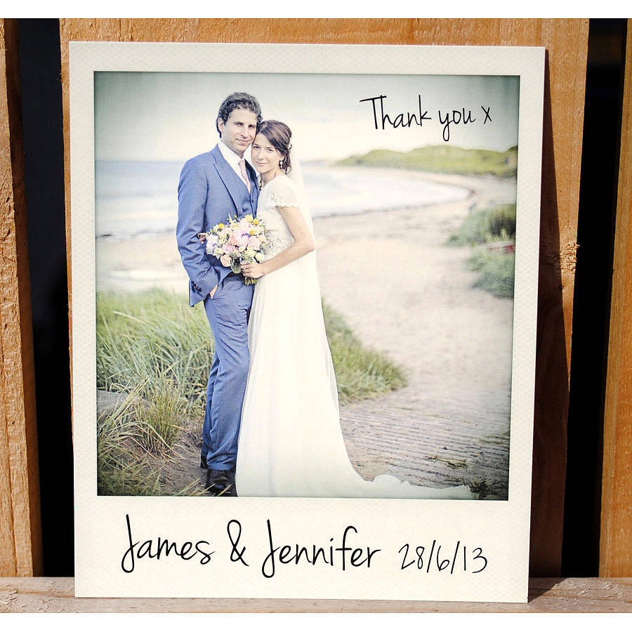 personalised polaroid wedding thank you cards thank you cards wedding vintage polaroid wedding thank you cards