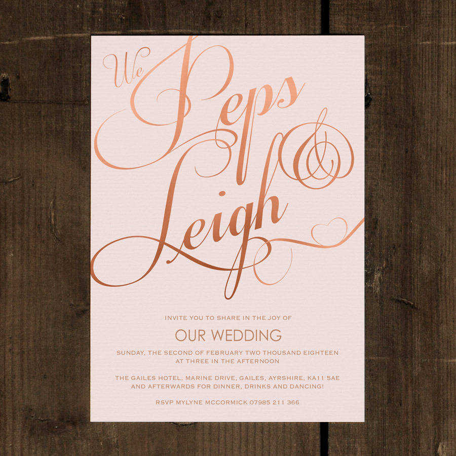 classic script wedding invitation wedding invitation set Classic Script Wedding Invitation Set