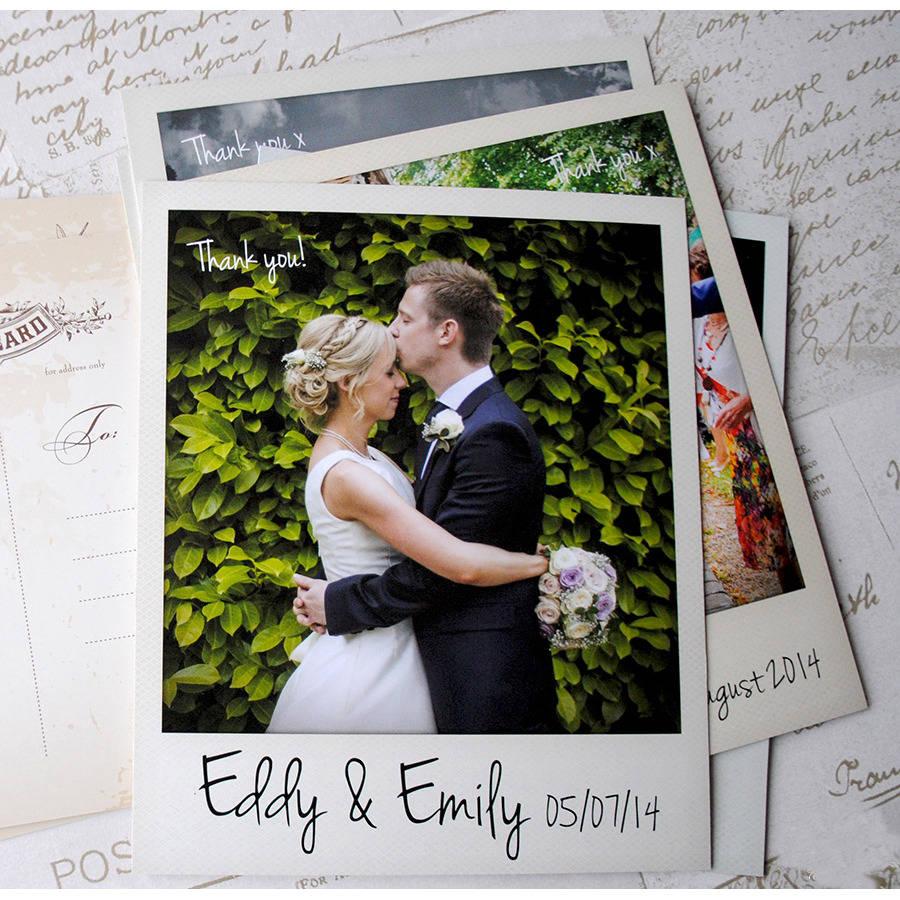thank you cards thank you cards wedding Wedding Polaroid Photo Thank You Cards With Envelopes