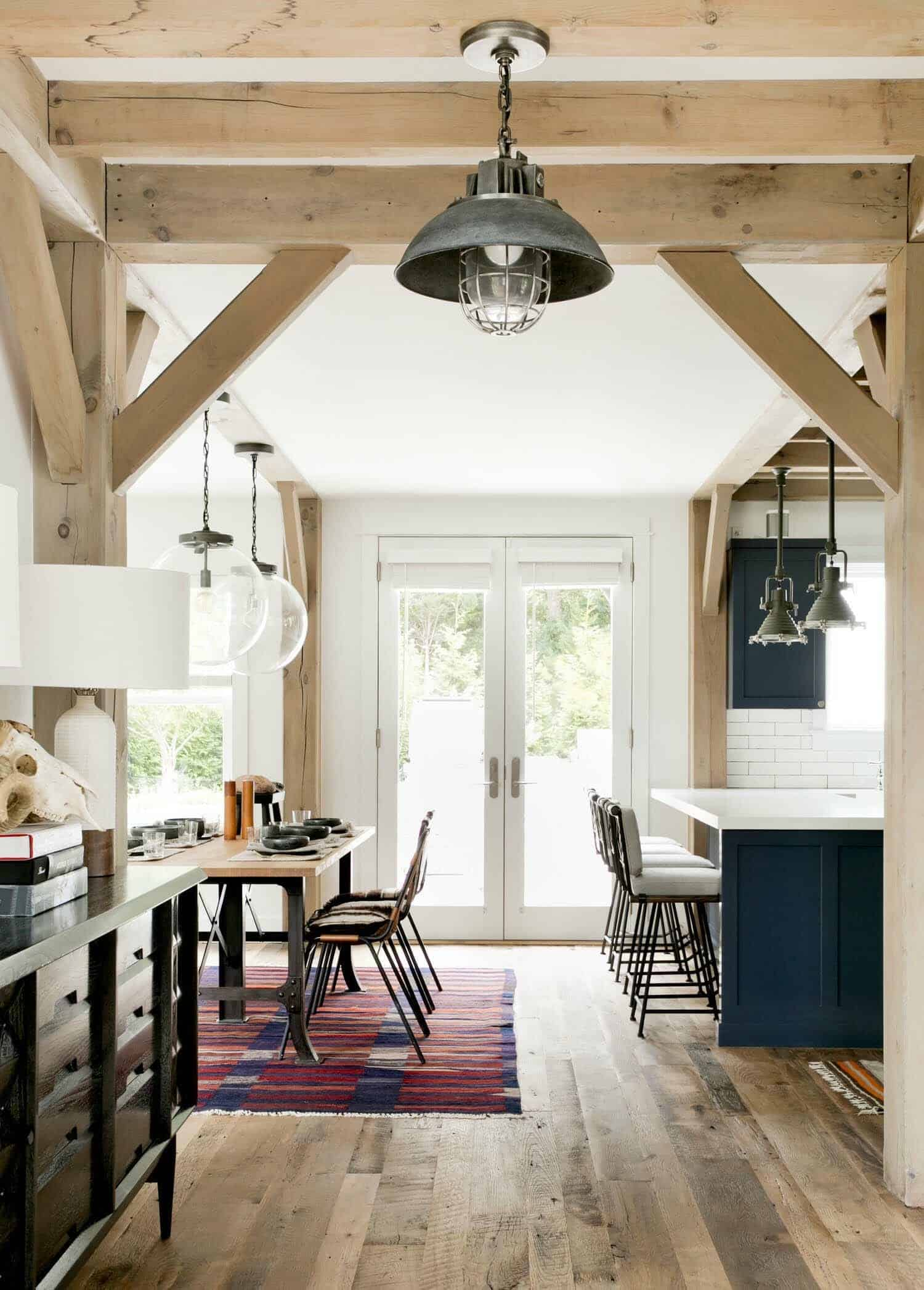 Ultra chic farmhouse style dwelling in the village of Sag Harbor modern farmhouse interior