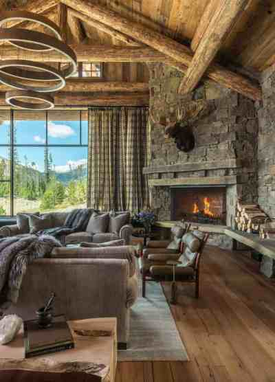 Rustic chic mountain home in the Rocky Mountain foothills