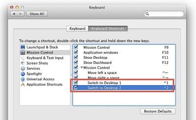 Switch Between Desktop Spaces Faster in Mac OS X with Control Keys