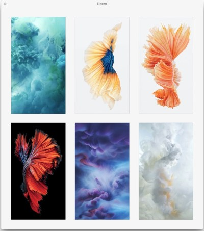 Get the Beautiful Live Wallpapers from iPhone 6s as Still Wallpapers