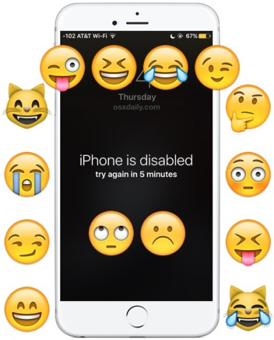 """April Fools! The """"iPhone is Disabled"""" Wallpaper Prank"""