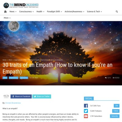 30 traits of an Empath (How to know if you're an Empath) | Pearltrees