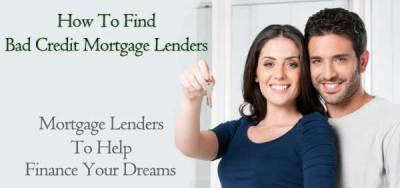 Bad Credit Mortgage Lenders for People Toughest to Qualify