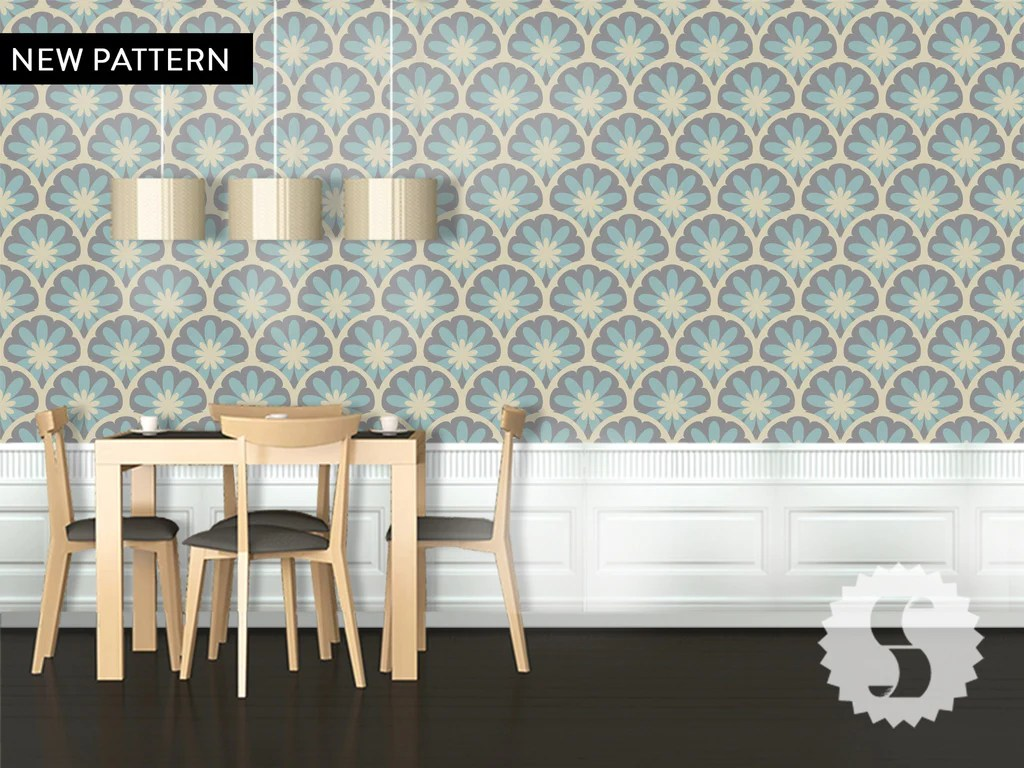 Wallpaper temporary removable wallpaper flower blooming tan
