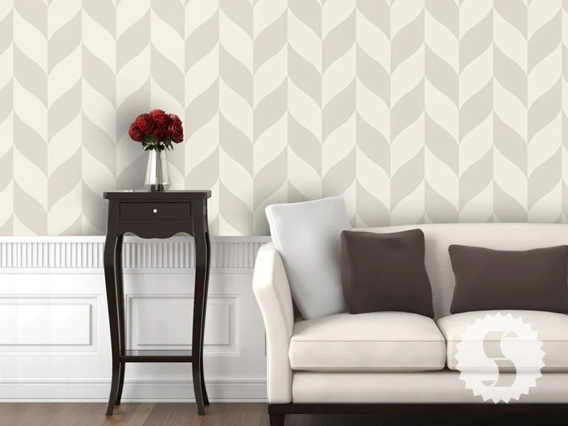 Wallpaper temporary removable wallpaper classic chevron tan