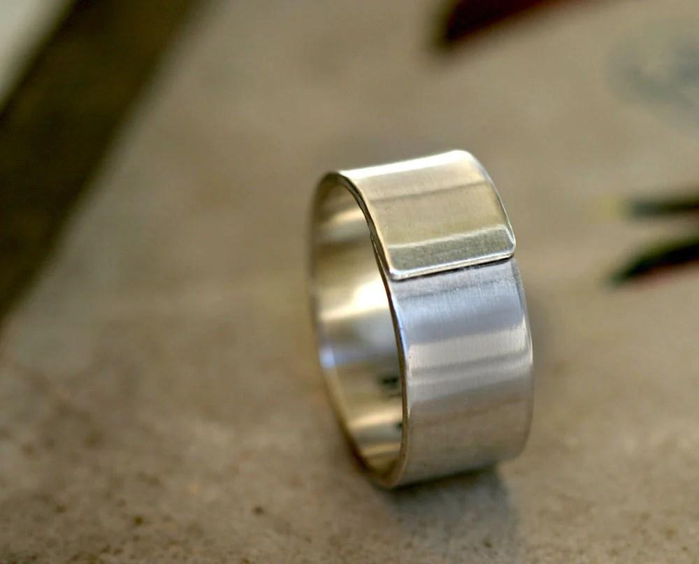 modern mens wedding band sterling silver wrapped ring s modern mens wedding bands Modern men s wedding band sterling silver wrapped ring S