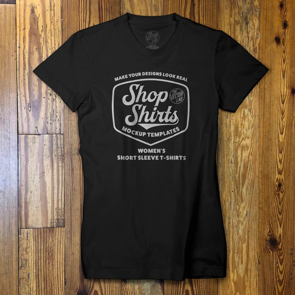 Shop Shirts: Women's T-Shirt Mockup Templates - TheVectorLab
