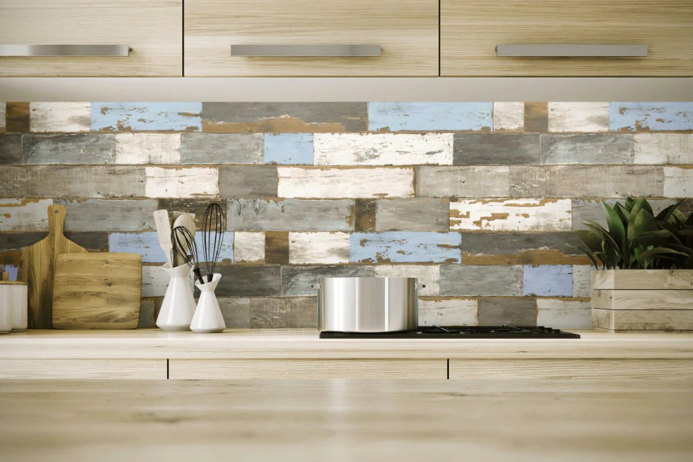Colorful Shiplap Peel-and-Stick Wallpaper by NextWall – BURKE DECOR