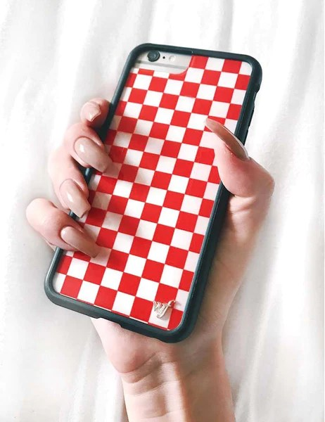 Red Checkers iPhone 6/7/8 Case – Wildflower Cases