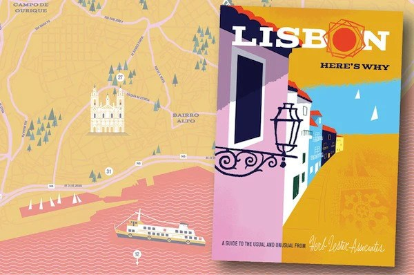 Lisbon illustrated guide map      DOWSE Lisbon illustrated guide map