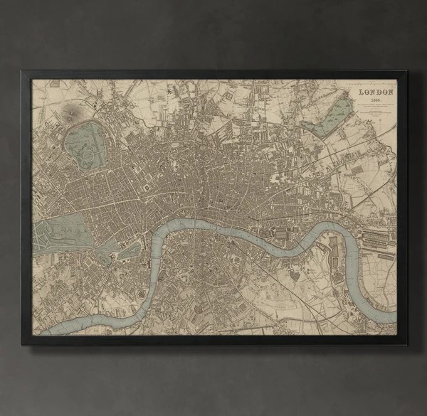 Map Print  LONDON   Map Prints by GeoArtShed Map Print  LONDON   Map Prints by GeoArtShed   1