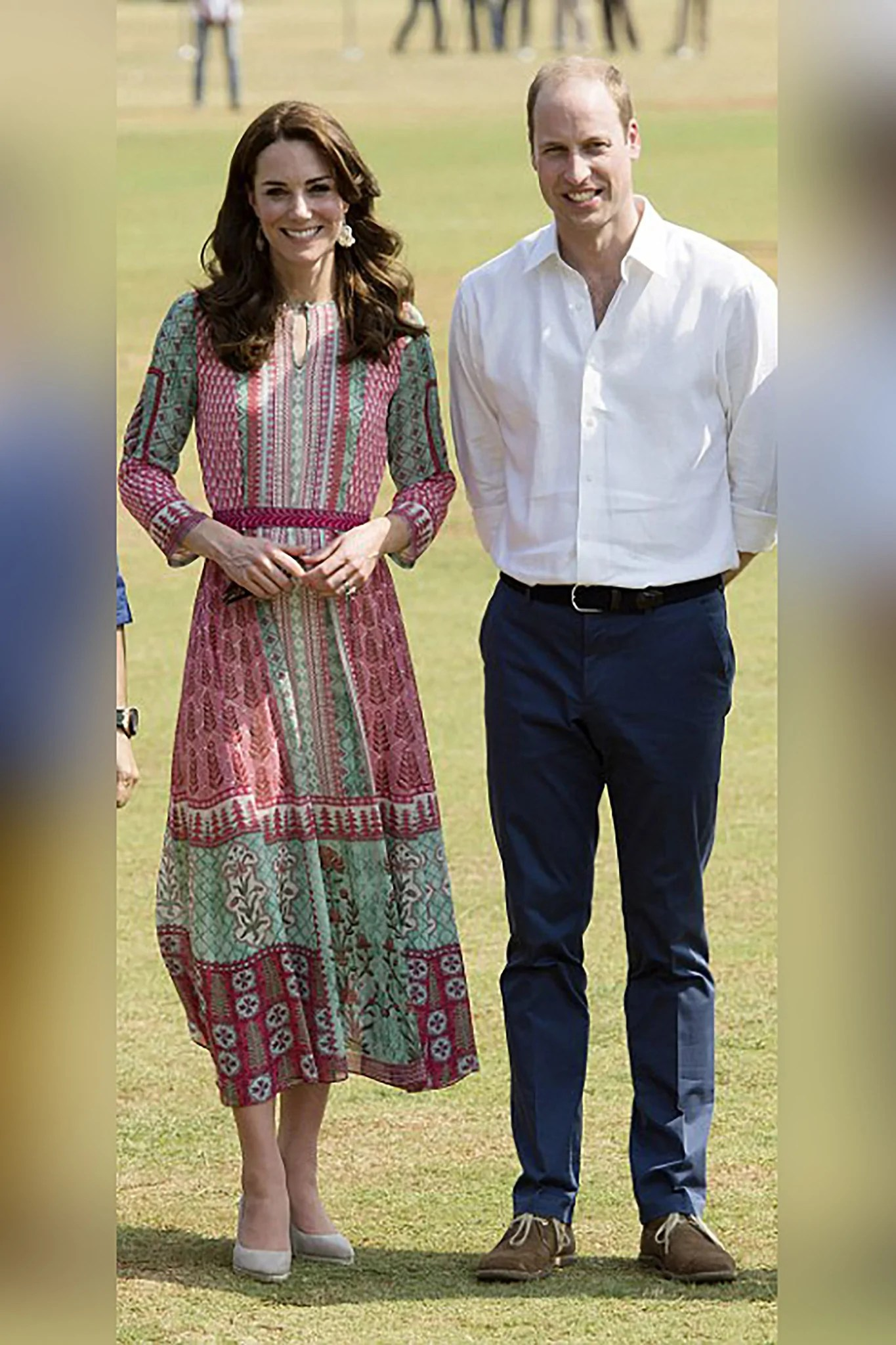 The Pink   Green Kate Middleton Dress   VIVA LUXE buy the kate middleton anita dongre dress online with free UK delivery