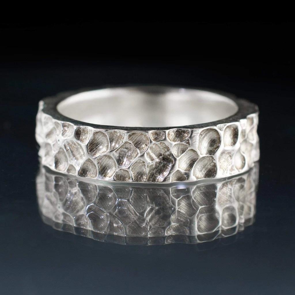 crater texture wedding ring rustic wedding band rustic wedding bands Crater Texture Wedding Ring Rustic Wedding Band by Nodeform