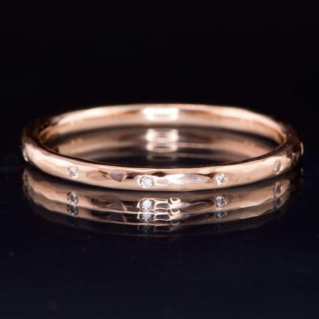 hammered silver wedding band set high hammered wedding band zoom