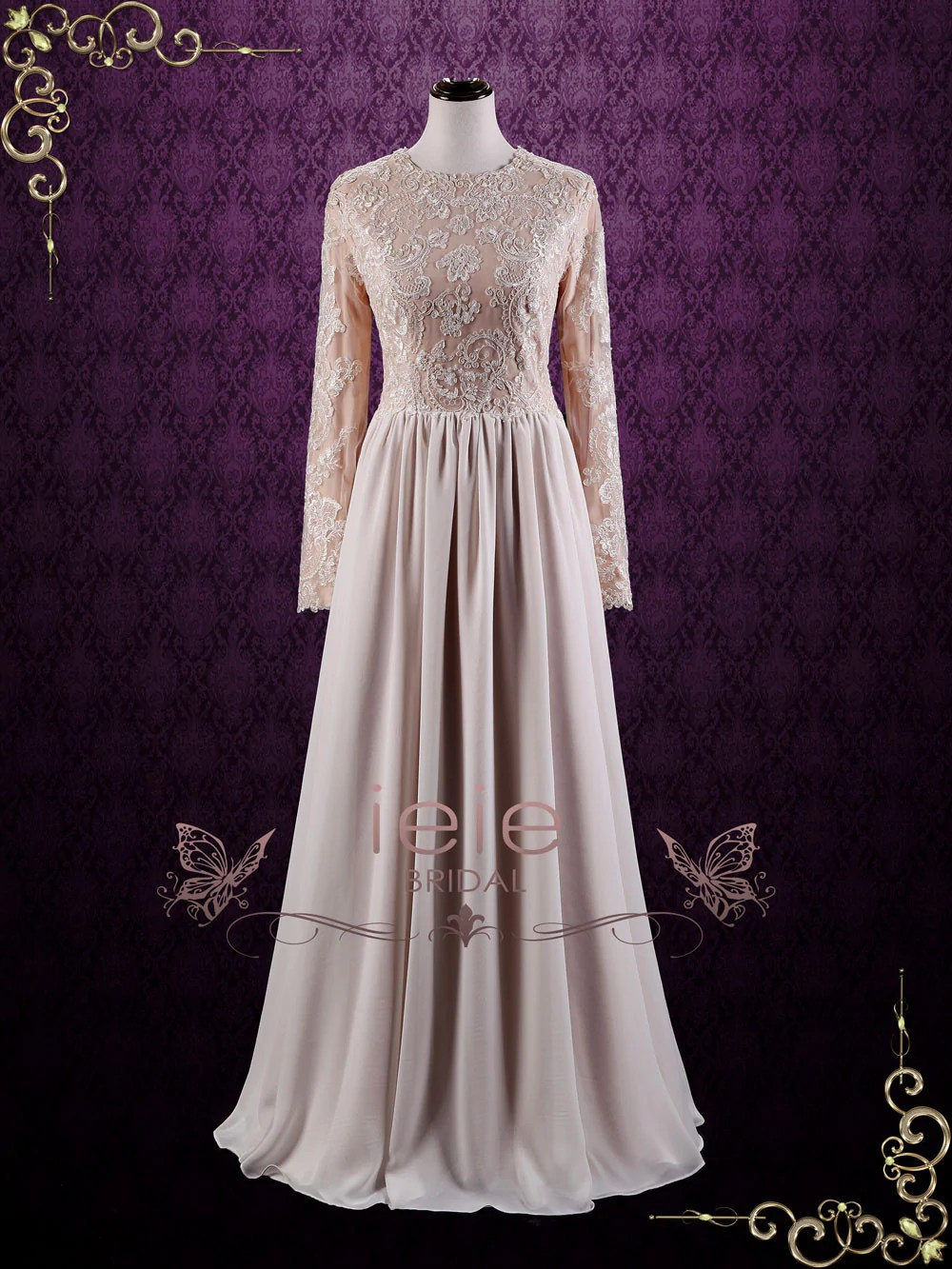 lets talk about modesty conservative wedding dress peonycatalog 57 Beautiful modest wedding gown Available