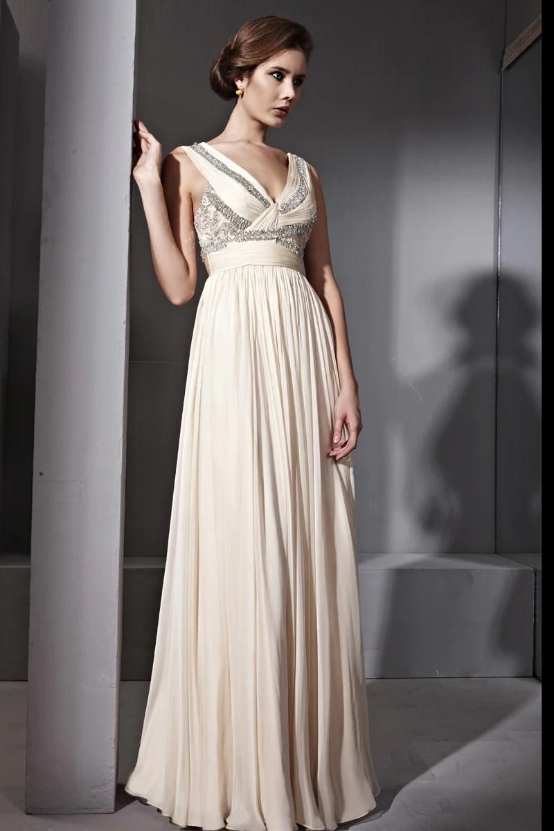 copy of sabrina in jeweled v neck light beige wedding dress jeweled wedding dress Elliot Claire Sabrina in Jeweled V Neck Light Beige Wedding Dress