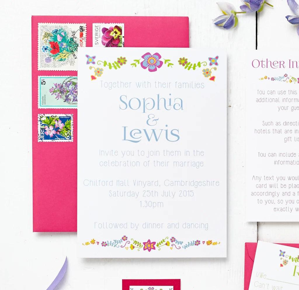 floral embroidery wedding invitation set wedding invitation set Floral Embroidery Wedding Invitation Set