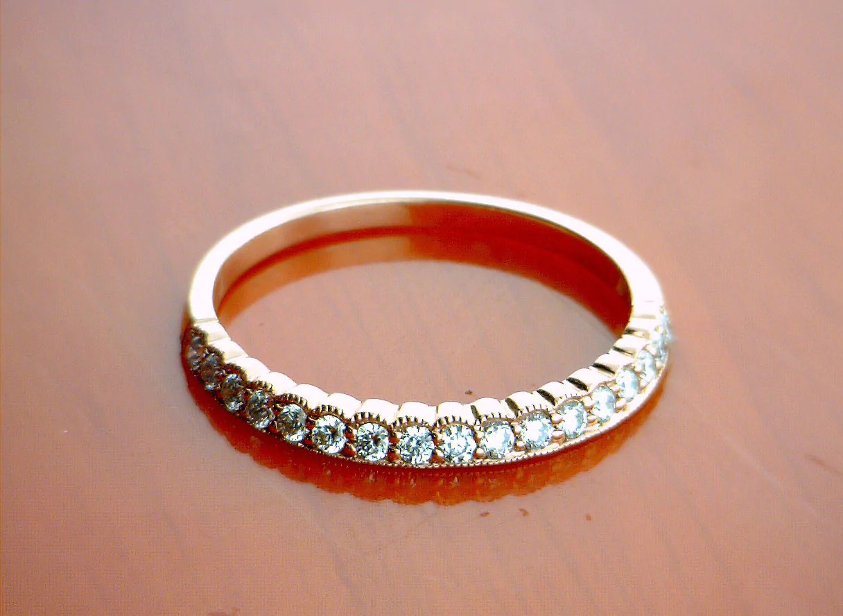 womens wedding bands womens wedding band Rose Gold 0 22cttw Angled Emily Band