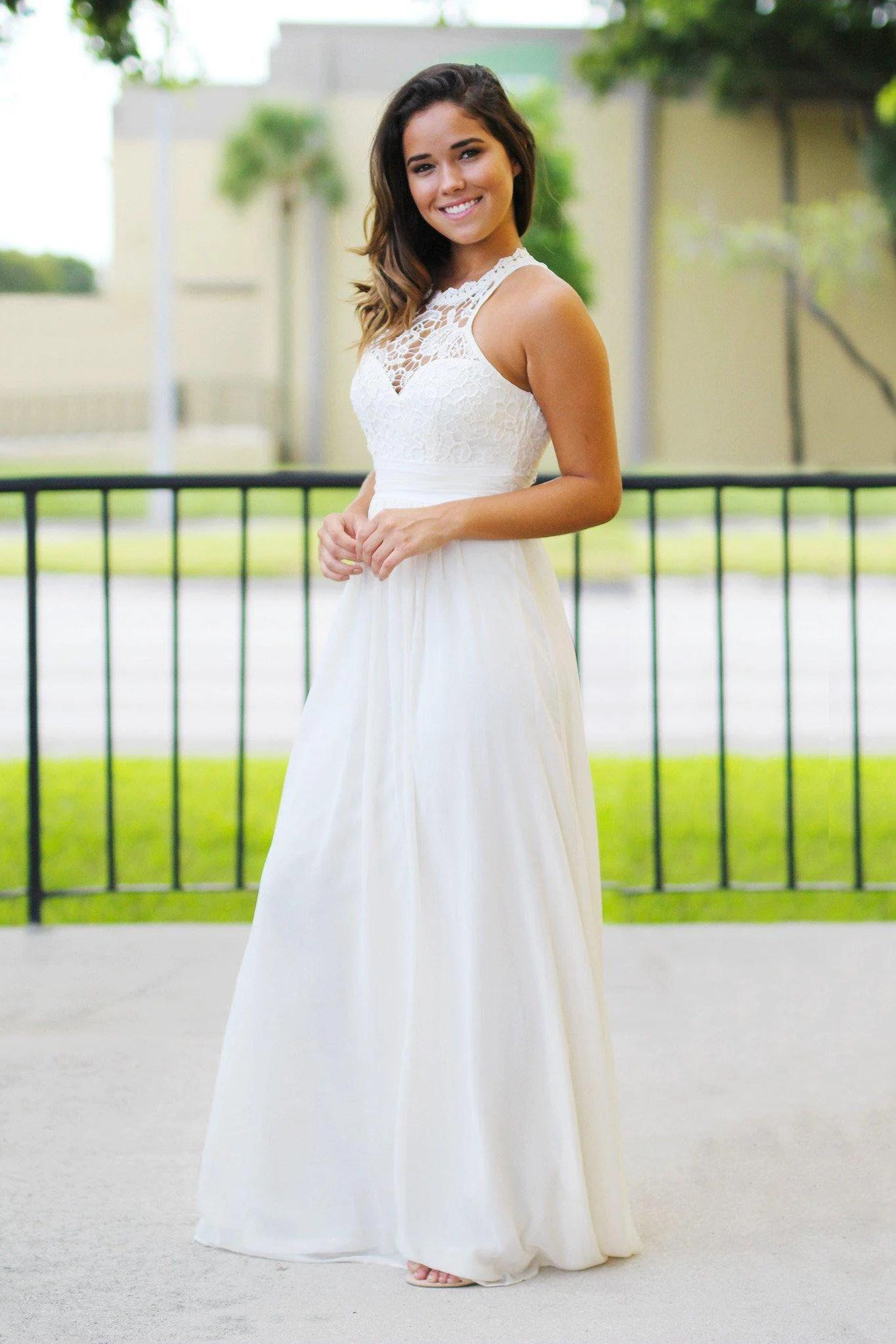 beige crochet maxi dress utm campaign la1 beige wedding dresses Maxi Dresses Bridesmaid Dresses