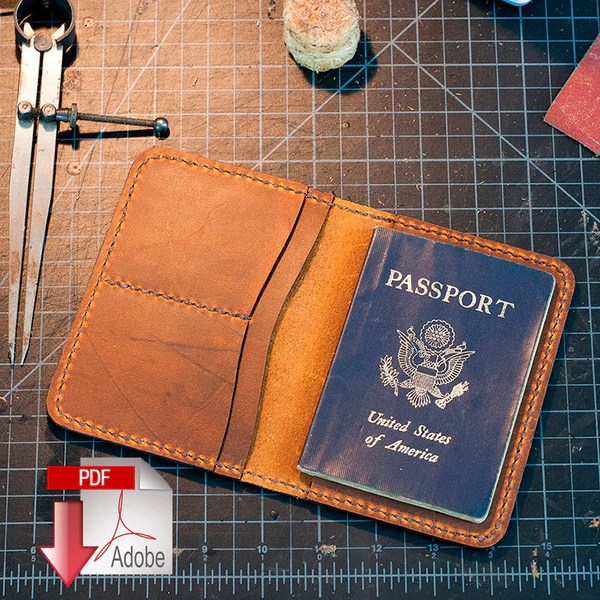 Leather Passport Cover Digital Template (A4) – MAKESUPPLY