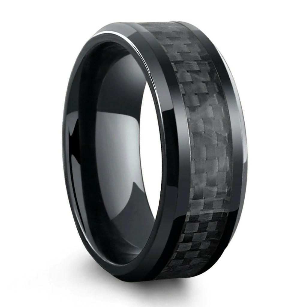 white gold mens wedding ring price black mens wedding rings Seanuo men black silver ripple ring bijoux fashion brand white gold color stainless steel male