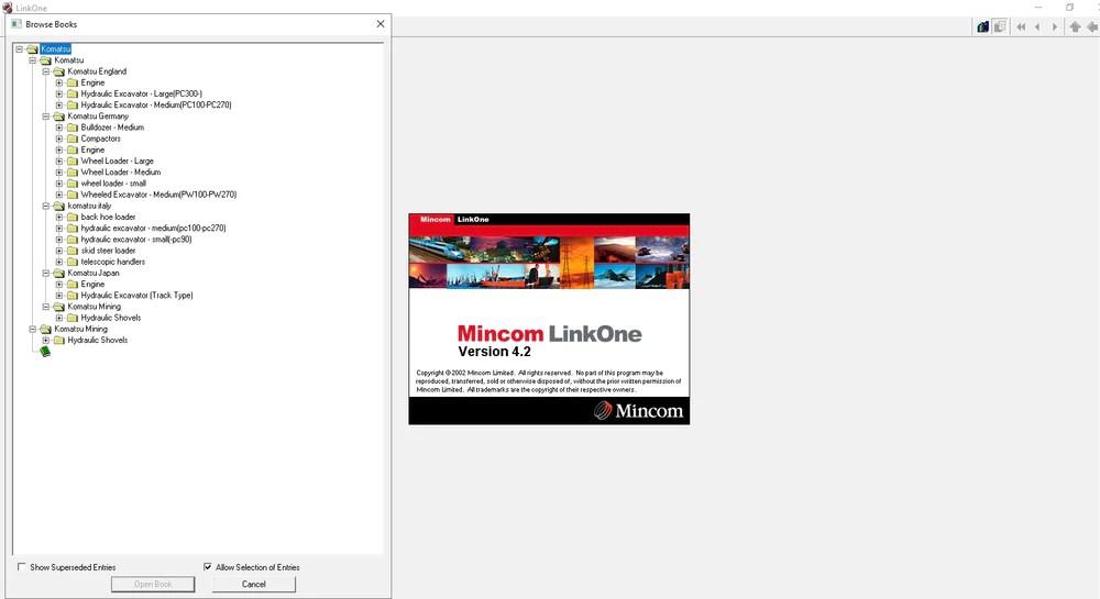 Komatsu LinkOne Parts Catalog EPC - Parts Manual Software All Models & – The Best Manuals Online