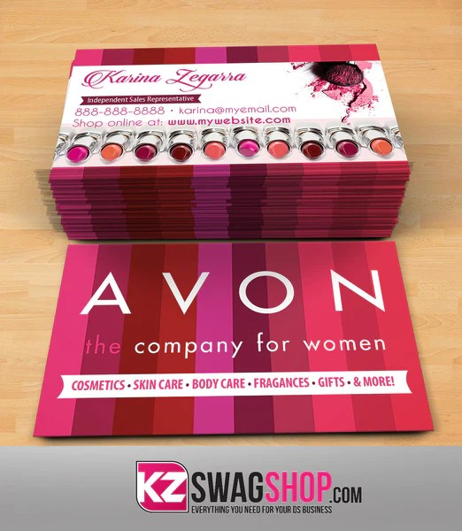 Avon Business Cards Style 1     KZ Swag Shop