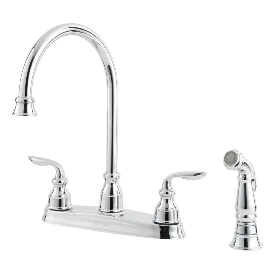 price pfister price pfister kitchen faucet Price Pfister Avalon 2 Handle Kitchen Faucet in Polished Chrome