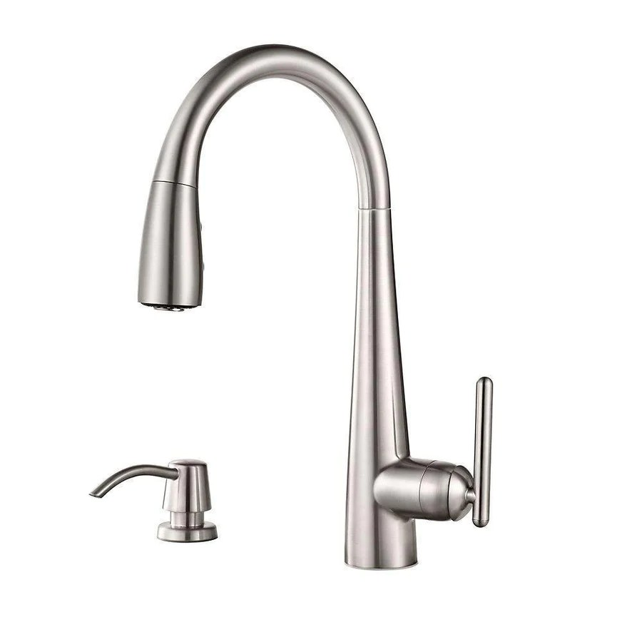 price pfister price pfister kitchen faucet Price Pfister Lita Single Handle Pull Down Sprayer Kitchen Faucet with Soap Dispenser in