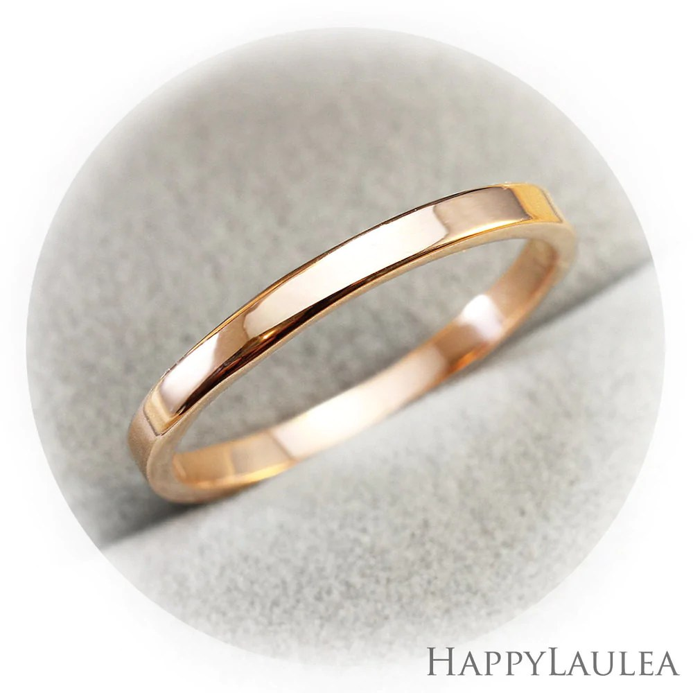 14k solid gold simple 2mm wedding band flat shaped 2mm wedding band 14K Solid Gold 2mm Simple Wedding Band