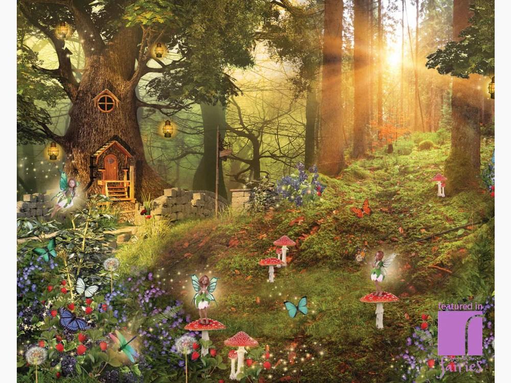 Fairy Wall Mural   Fairy Wallpaper   Away With The Fairies   reroom