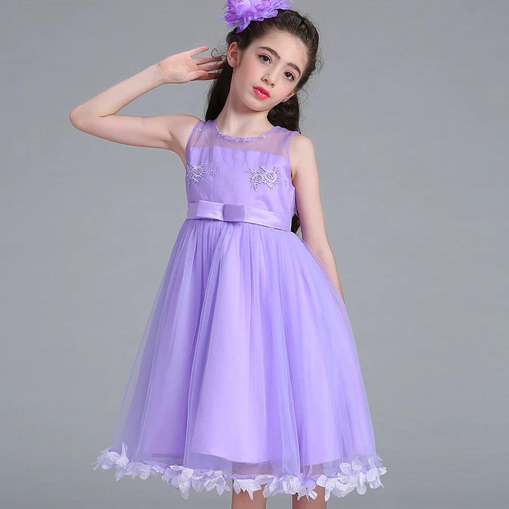 Purple Princess Flower Girl Dresses Dream Wedding Ideas Around The