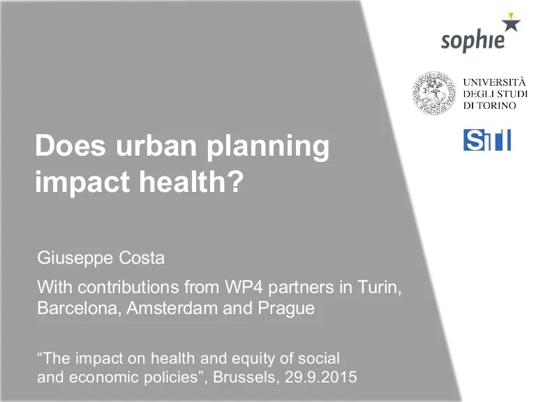 Does urban planning impact health?