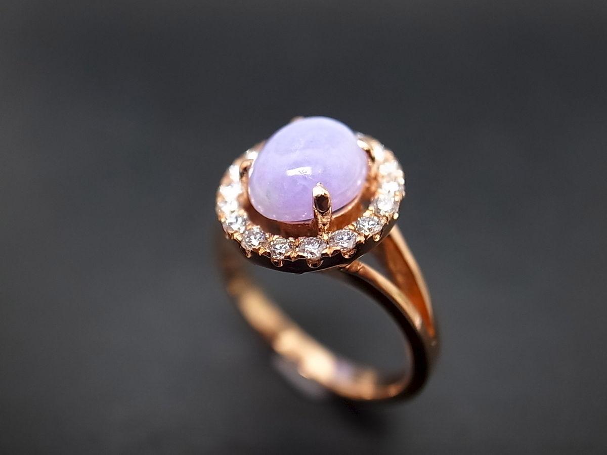 jade diamond ring purple diamond wedding ring HN Jewelry